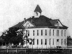 University of Texas at Arlington - An undated image of the first building on the campus of Arlington College