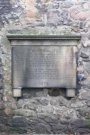 Forrest baronets - The grave of Sir James Forrest, Greyfriars Kirkyard