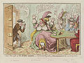The loss of the faro bank; or - the rook's pigeon'd by James Gillray.jpg