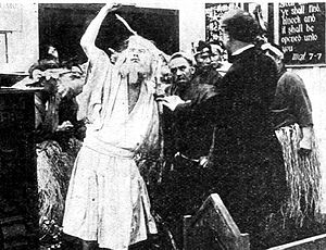 The Wrath of the Gods (1914 film) - The prophet at the Christian church