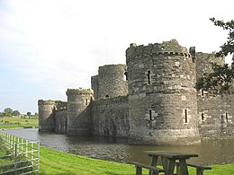 The rear of Beaumaris Castle - geograph.org.uk - 1006539.jpg