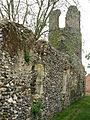The ruin of St Mary's church - the north wall - geograph.org.uk - 1284078.jpg