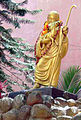 The sculpture of Jesus Christ in the ashram of Sathya Sai Baba Prasanthi Nilayam.jpg