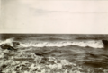 The surf at Stony Island, near Fort Resolution on the southern shore of Great Slave Lake. The photograph was taken by James W. Tyrrell on his return journey during the 1900 expedition to Great Slave Lake and Hudson Bay..png