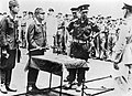 The surrender ceremony of the japanese forces at Rabaul, 1945.JPG