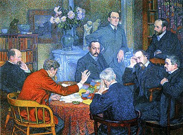 Theo van Rysselberghe- A Reading by Emile Verhaeren