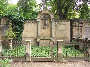 Karl Vollmöller (philologist) - Gravesite of Theodora Elisabeth and Karl Vollmöller at the Trinitatisfriedhof in Dresden