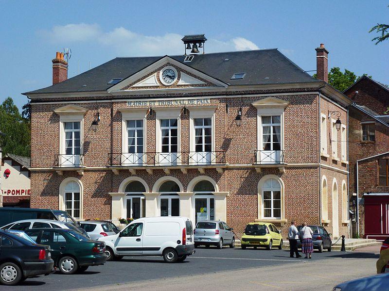 Thiberville (Eure, Fr) mairie et tribunal de Paix