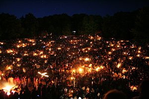 Walpurgis Night - Image: Thingstätte Heidelberg Walpurgisnacht 1