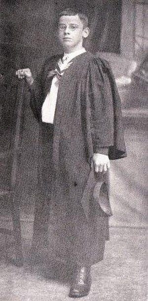 Jan Hendrik Hofmeyr (1894–1948) - Jan Hofmeyr at the age of thirteen. This picture was taken in his first year at the University of Cape Town.