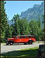 This is a photo of our tour bus @ Lake McDonald Lodge one of the stops as we travel around beautiful Glacier park , Lake McDonald Lodge is a historic lodge located within Glacier National Park, on the southeast shore o - panoramio.jpg