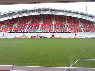 Munster - Thomond Park in Limerick – one of two venues in the province which host Munster Rugby games