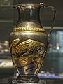 Thracian gilt silver pitcher lion attacking a deer Rogozen Treasure Vratsa Bulgaria MH.jpg