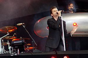 Touring the Angel - Depeche Mode performing at the O2 Wireless Festival in London on 25 June 2006.