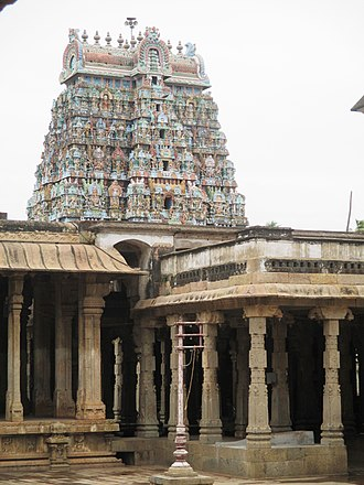 Jambukeswarar Temple, Thiruvanaikaval - Images of various gateway towers in the temple