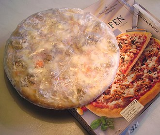 Pizza cheese - A wrapped frozen pizza