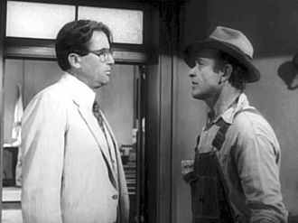James Anderson (American actor) - James Anderson (right) with Gregory Peck in To Kill a Mockingbird (1962)