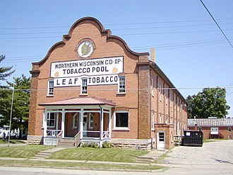 Viroqua, Wisconsin - Northern Wisconsin Co-op Tobacco Pool Warehouse represents the first tobacco-grower co-operative in the nation.