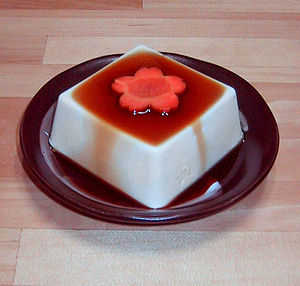 "Japanese style ""Silken tofu"" with so..."