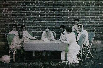 Tolstoyan movement - Tolstoy organising famine relief in Samara, 1891.