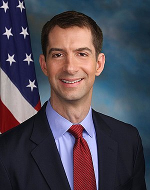 Politics and government of Arkansas - Image: Tom Cotton official Senate photo