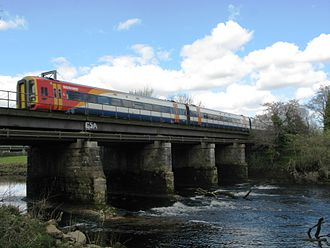 Exeter–Plymouth line - South West Trains Class 159 unit 159103 crossing Totnes viaduct, with a service from London Waterloo to Plymouth. South West Trains also operated to Paignton and Penzance, however, since the December 2009 timetable change, they no longer operate west of Exeter.
