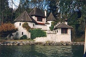 Bollingen Tower - Bollingen Tower as seen from Lake Zürich.