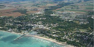 Kincardine, Ontario (community) - Aerial view of Kincardine