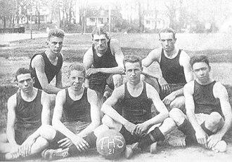 Towson High School - Boys' basketball team, 1921