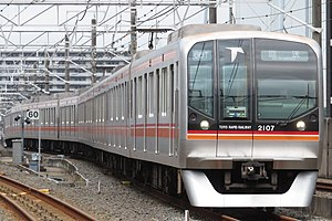 Toyo rapid railway 2000 series 2107F Out of service.jpg