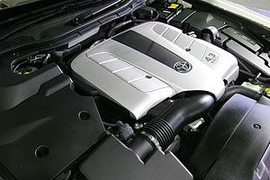 Toyota UZ engine - Image: Toyota 3UZ FE engine 001