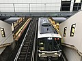Train for Kyoto Station from overpass of Uzumasa Station.jpg