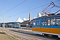 Tram in Sofia in front of Central Railway Station 2012 PD 049.jpg