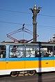 Tram in Sofia near Sofia statue 2012 PD 061.jpg