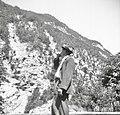 Trentar trobi s kozlovim rogom. Tako kličejo tega ali onega s hribov blizu doma, Trenta 1952 (2).jpg