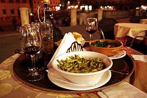 Troffiette with genovese pesto.