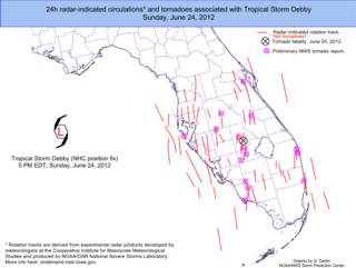 2012 Tropical Storm Debby tornado outbreak
