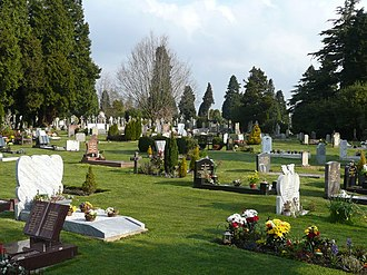 Kent and Sussex Crematorium and Cemetery - A section of newer graves near the centre of the cemetery. April 2008