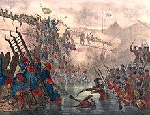 Османские войска штурмуют форт Шефкетиль во время Крымской войны