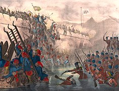 Turkish troops storming Fort Shefketil (cropped).jpg