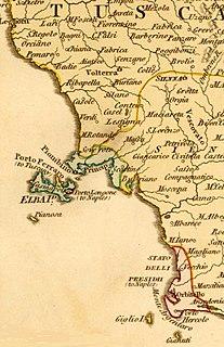 State of the <i>Presidi</i> former state on the Apennine Peninsula