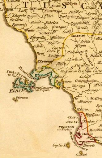 State of the Presidi - The State of the Presidi, Elba and Piombino in the late 18th century