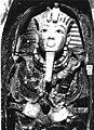 Tutankhamun's mask, Burton photograph P0750a, 1922.jpg