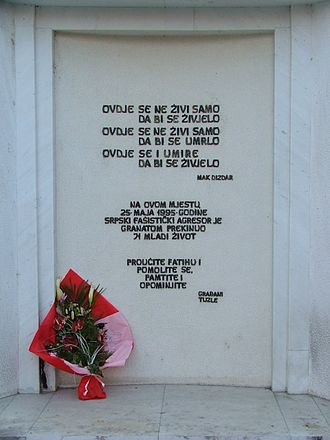 Tuzla - Tuzla massacre memorial