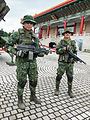 Two ROCA Soliders Wear Digital Camouflage Uniform in CKS Memorial Hall Square 20140607.jpg