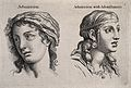 Two female faces expressing admiration (left) and admiration Wellcome V0009319.jpg