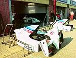 Tyrrell pits at the 1994 British Grand Prix (32162183190).jpg