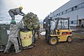 U.S. Airmen with the 52nd Combat Communications Squadron load a tent onto a forklift during Vigilant Shield 15 at the Royal Canadian Air Force 5 Wing at Canadian Forces Base Goose Bay, Newfoundland and Labrador 141018-F-CR311-452.jpg