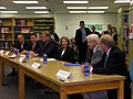U.S. House Speaker Nancy Pelosi meets with Gov. Chet Culver, U.S. Rep. Leonard Boswell and others at North High School in Des Moines (2840111935).jpg