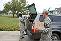 U.S. Soldiers with Bravo Company, 199th Brigade Support Battalion, Louisiana National Guard (LANG) distribute food, water and ice to citizens in need of resources after Hurricane Isaac in the Venetian Isles 120902-A-SM895-022.jpg